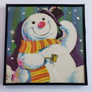 FROSTY THE SNOWMAN Christmas Framed Record Sleeve